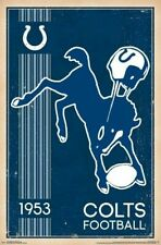 INDIANAPOLIS COLTS ~ FOUNDED 1953 LOGO 22x34 NFL National Football League
