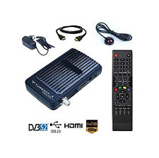 Mini Digitaler Satelliten Receiver HD mit 2x USB + IR Empfangsauge SAT FULL