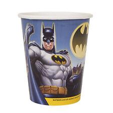BATMAN Gotham Hero 9oz PAPER CUPS (8) ~ Birthday Party Supplies Beverage Drink