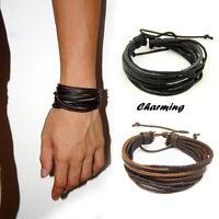 Leder Armband Bracelet Leather Unisex! Surferarmband Herren Damen Armbänder