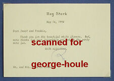 RAY STARK - LETTER - 1994 - SIGNED - FUNNY GIRL - FANNY BRICE - STREISAND - AA