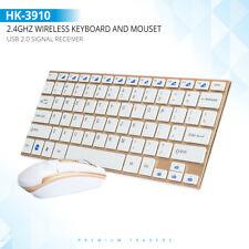 Ultra Slim Wireless Keyboard & Mouse Set Combo For Gamers PC Laptop Desktop MAC