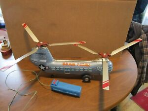 Japanese Tin Litho Piasecki US Air Force Helicopter #01267