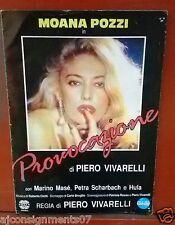 Provocazione {Moana Pozzi} Original Italian Movie Program 80s