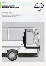 Datenblatt MAN 292 362 FRH Fernreise Hochdecker 6 90 1990 Prospekt Bus Omnibus