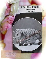Vintage 1930s Toy Knitting Pattern 'Pinkie The Piglet' 5ins Tall!  ONLY £1.69!!