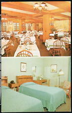 ELMIRA NY Mark Twain Hotel Room & Restaurant View Vtg Postcard Old Multi-view PC