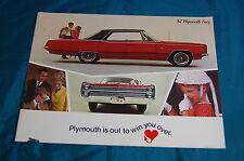 1967 Plymouth Fury Brochure Dealer