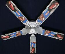 "New Disney Cars Lightning McQueen Mater Ceiling Fan 52"""