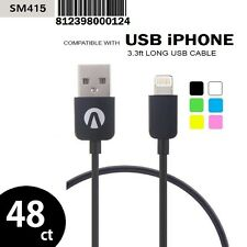 48X ORIGINAL ANEX USB 8-PIN iPHONE CHARGING CABLE WHOLESALE LOT