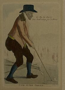 1803 Cock Of The Green - John Kay-  Alexander McKellar - Original 2/72 Golf Art