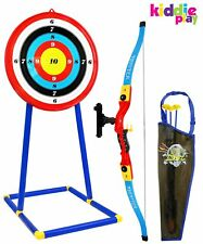 Kiddie Play Toy Archery Kids Bow Arrow Target Quiver Birthday Party Game Gift