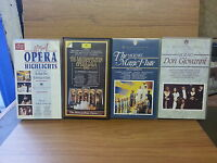 Job Lot of Classical VHS tapes Operas from Mozart Flute Giovanni etc FREEPOST!!!