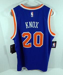Youth New York Knicks Kevin Knox #20 Blue Icon Jersey Swingman L Nike NWT SS L