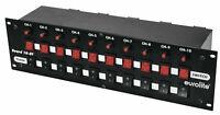 EUROLITE Board 10-ST 10-fach Schaltpanel Switchboard, mit 10 Schuko-Steckdosen