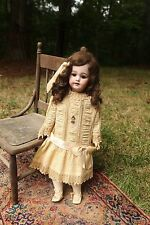 "Very Large 27"" Early Mark Simon & Halbig DEP 1009 Antique Bisque Doll"
