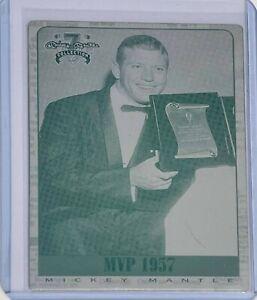 1 OF 1 MICKEY MANTLE 1997 SB CARD #4 PRINTING PLATES NY YANKEES MVP 1957 LOT 2