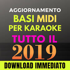 TUTTO IL 2019 AGGIORNAMENTO 500 Basi MIDI per karaoke professionali con testo