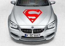 SUPERMAN LOGO DECAL VINYL GRAPHIC HOOD SIDE CAR TRUCK