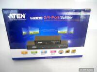 Aten VS184A HDMI Splitter, 4-Fach, 4k x 2k UHD Auflösungen, NEU, OHNE NETZTEIL