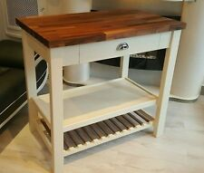 Bespoke Kitchen Trolley Center Island Butcher Block Farrow & ball paint chart