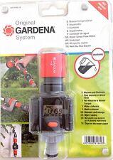 Gardena Digital Electronic Water Smart Flow Meter for Garden Hose Watering G8188