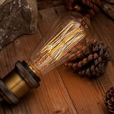 Dimmable Filament Edison Bulb E26 ES Incandescent Industrial Light Lamp Pear 40W