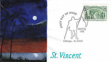 US FDC Sc # 2627 c Voyages of Columbus with handpainted cachet  CDS - US 8235