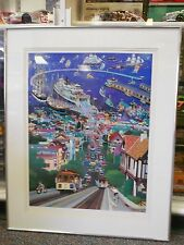 Alexander Chen Hyde Street Pier Seriolithograph IH Commerce Signed 1/250 RARE
