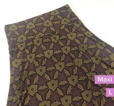 NWT LuLaRoe Maxi skirt Size L. Geometric print