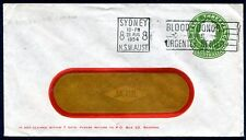 QEII 3d Green Lg Die STO cover 'Box 22 Redfern(Peters Ice Cream)' NSW usage