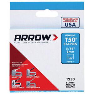 "Arrow Genuine 8mm (5/16"") T50 Steel Staples - ART50A08"