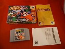 Mickey's Speedway USA Nintendo 64 2000 N64 COMPLETE w Box game WORKS! Mickeys H1