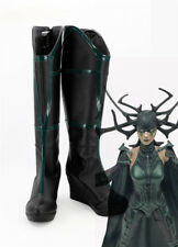 Thor 3 Ragnarok Goddess Of Death Hela Cosplay Boots Halloween Shoes Custom made