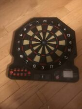 """New listing Dart Board Electronic Red Green Black with 6 Darts Target Area - 16"""" Radius"""