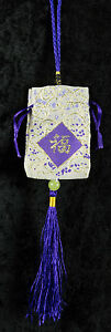 Omamori お守り Talisman Lucky Charm Japanese-Pouch-Pouch Purple -FS8-154