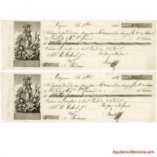 Lettres de change Cayenne/Bordeaux 1843