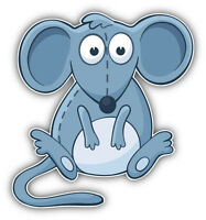 Funny Mouse Car Bumper Sticker Decal 5'' x 5''