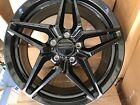 C8 Corvette Wheels.zr1 Black Gloss 19-20 Flow Forged