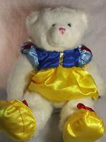 "Bear Works White Teddy Bear Plush Stuffed Animal 11"" Tall Toy Snow White"