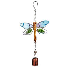 Hanging Metal And Glass Bells Dragonfly Wind Chimes Outdoor Garden Decor Gift