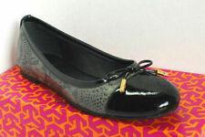 Tory Burch VERBENA-TRIBAL SNK Leather Smoke Roccia/Black Balet Flats Size 4,5M