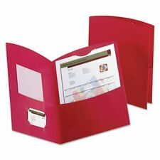 Oxford Contour Two Pocket Folder Recycled Paper 100 Sheet Red Oxf5062558
