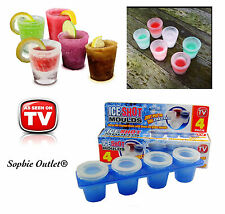 ICE SHOT GLASS MOULD 4Pc Tray Birthday Wedding Christmas Party Drinking Fun Gift