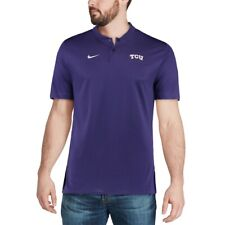 NIKE TCU HORNED FROGS ELITE COACHES BLADE COLLAR LEGEND PERFORMANCE POLO SHIRT