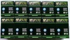 KTM DUKE 690/R (08 to 11) 1st & 2° HIFLOFILTRO OLIO FILTRI (HF155 & HF157) X5