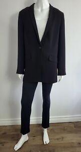 Aritzia Babaton Single Button Blazer Jacket Flap Pockets Black sz 10