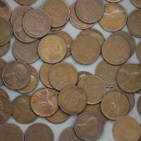 Roll 50 of Circulated 1951 Wheat Pennies 1C in Clear Tube 69th Birthday Gift