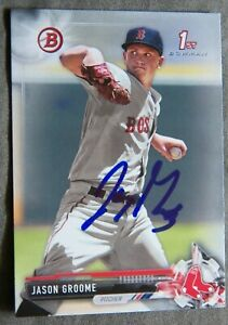 Boston Red Sox Jason Groome Signed 2017 Bowman Auto 1st Card