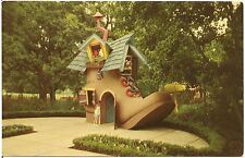 Old Woman Who Lived in a Shoe at Children's Fairyland Oakland CA Postcard
